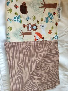 Woodland Baby Blanket Forest Animal Baby Blanket by DwellDarling