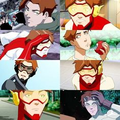 I feel that when Wally comes back, either Bart will give the title of KF back to him or Wally will just become the flash Young Justice League, Arte Dc Comics, Dc Comics Superheroes, Anime Couples Manga, Cute Anime Couples, Anime Girls, Batwoman, Martian Manhunter, Young Justice