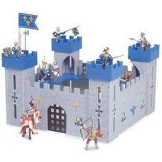 Mi primer castillo de juguete de madera azul en El País de los Juguetes