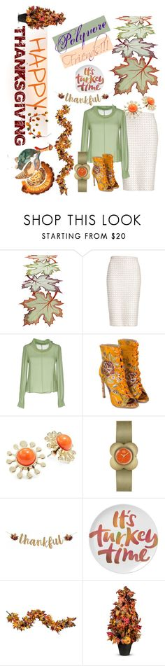 """Happy Thanksgiving Polyvore Friends🦃"" by mdfletch ❤ liked on Polyvore featuring St. John, RED Valentino, Trina Turk, Orla Kiely, Improvements and thanksgiving"