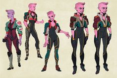 Ugi character designs, by Ben Hale