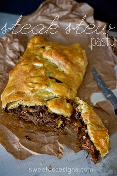 steak and mushroom stew pasty- an awesome way to use up leftover stew and perfect for watching the big game!