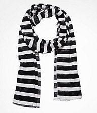 e1c62d882e0d BLACK AND WHITE TEXTURED STRIPE SCARF Black And White Scarf