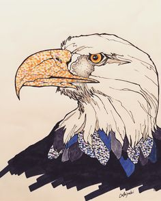 #illustration #artist #art #drawing #artwork #bird #eagle #sketch #イラスト #アート
