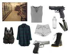 A fashion look from January 2017 featuring flannel button-down shirts, gray crop top and denim cut offs. Browse and shop related looks. Punk Outfits, Girly Outfits, Cool Outfits, Girls Fashion Clothes, Teen Fashion Outfits, Walking Dead Clothes, Zombie Apocalypse Outfit, Zombie Clothes, Runners Outfit