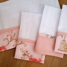 Dish Towel Embroidery, Hand Embroidery Art, Sewing Hacks, Sewing Crafts, Sewing Projects, Dish Towels, Tea Towels, Sewing Case, Cot Sheets