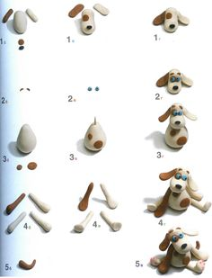 How to make lots of animals out of clay, fondant or modeling chocolate.