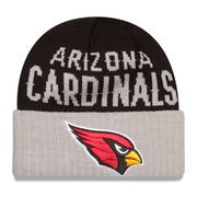 New Era Arizona Cardinals Black/Heather Gray Classic Cover Cuffed Knit Hat :https://athletic.city/football/gear/new-era-arizona-cardinals-blackheather-gray-classic-cover-cuffed-knit-hat/