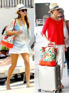 beach/airport style. Jessica Alba