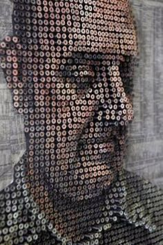 Created with screws and oil paint by Andrew Meyer