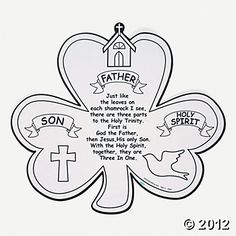 Shamrock Trinity Cutouts --  Learn about the Blessed Trinity; good class activity for St. Patrick's Day