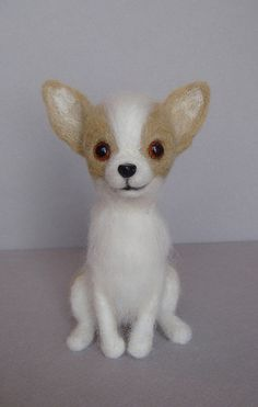 needle felted Chihuahua by Laurie Valko,