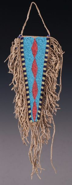 Plains Beaded Tab Bag - Old West Events