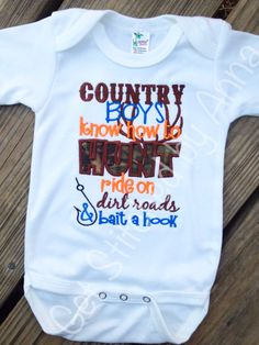 Country Boys know how to hunt ride on dirt by GetStitchedByAnna, $20.00