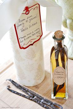 homemade vanilla extract as holiday gifts