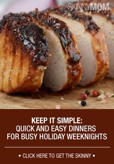 Manage your holiday season with quick and easy dinners for your busy weeknights!