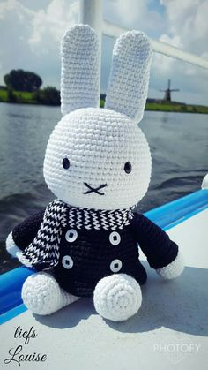 Mesmerizing Crochet an Amigurumi Rabbit Ideas. Lovely Crochet an Amigurumi Rabbit Ideas. Crochet Bunny, Cute Crochet, Crochet Animals, Beautiful Crochet, Crochet Crafts, Crochet Toys, Crochet Projects, Miffy, Yarn Bombing