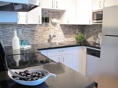 Contemporary kitchen staging