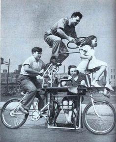 Le vélo familial machine à coudre...
