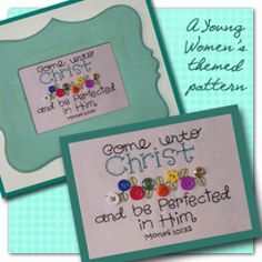 Come Unto Christ - Stitchery pattern | Stitchery Pattern | YouCanMakeThis.com $3