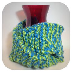 Chunky knitted scarf by Short Stack Stitches
