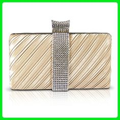 Jacki Design Rhinestone Clasp Hard Case Evening Clutch  Party Bag  Wedding  Purse (Gold) - Evening bags ( Amazon Partner-Link) bf15e011c9acf