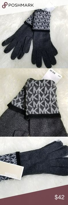 Michael Kors gloves New with tags 100% Authentic   MICHAEL KORS GLOVES GRAY Colors with black trim. Great gift idea! Michael Kors Accessories Gloves & Mittens