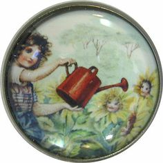 Nursery Rhyme Button Mary Mary Quite Contrary NR10 | eBay
