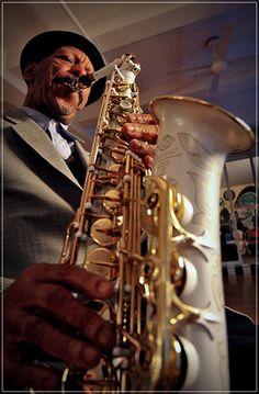 Image of Jazz Saxophonist Ornette Coleman - © Juan-Carlos Hernandez