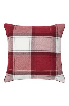 Primark - Red Large Check Cushion