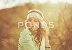 Stock photo Fashion Lifestyle. Fashion Portrait of Beautiful Young Woman Outdoors. Soft warm vintage color tone. Artsy Bohemian Style..  8.4 MB. 5186 x 3597. From $10. Royalty free. Download now >>>