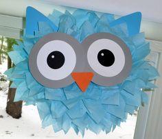 Owl pom pom kit baby shower first birthday party decoration. $9.99, via Etsy.