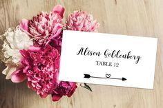 Wedding Place Cards Wedding Place Card by IspiratoPrintables