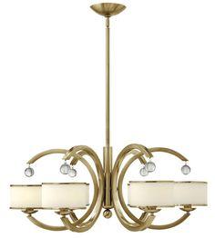 Hinkley Lighting Monaco 6 Light Chandelier in Brushed Caramel 4856BC #lightingnewyork #lny #lighting