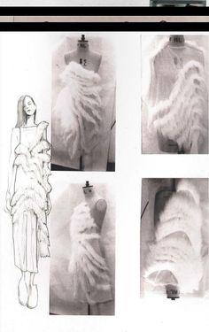 Fashion Sketchbook Illustrations Design Process New Ideas Sketchbook Layout, Textiles Sketchbook, Fashion Design Sketchbook, Sketchbook Inspiration, Fashion Sketches, Sketchbook Ideas, Mode Collage, Fashion Design Portfolio, Fashion Collage