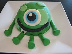Monster Cake Made Not With Fondant But With Moldable Chocolate #fooddecoration, #food, #cooking, https://facebook.com/apps/application.php?id=106186096099420