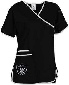 Oakland Raiders Women's NFL Scrub Top
