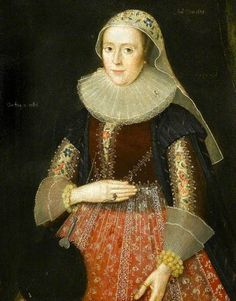 """""""Mary Hawtrey, Lady Wolley"""", circle of Marcus Gheeraerts the younger, 1625; Chequers Trust 65"""