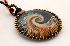polymer clay jewelry | Polymer Clay Jewelry Inspiration / Midnight Wire Wrapped Pendant ...