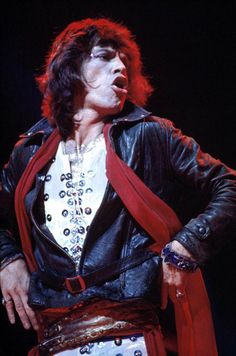 Mick Jagger, The Rolling Stones, NYC 1972. I probably have about 10 pictures of him making  this face.