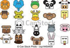 dessins visages d animaux - Google Search