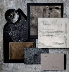 A collection of beautiful wedding invitations and stationery suites from Magnolia Rouge Vendors Starry Wedding, Moon Wedding, Celestial Wedding, Gothic Wedding, Dream Wedding, Wedding Day, Rustic Wedding, Unique Wedding Stationery, Beach Wedding Invitations