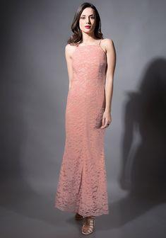 165a243ccb8 Pink Lace Mermaid Maxi Dress  Fashion  FabAlley  PartyWear  WeddingWear   MaxiDress