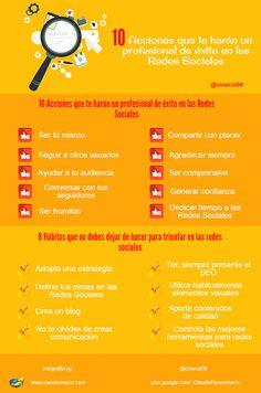 infografía hábitos para triunfar en las redes sociales
