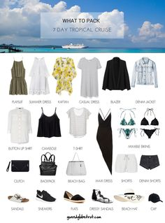 What to Pack: 7 Day Tropical Cruise