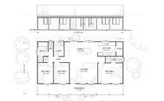 Met-Kit Homes floor plans - Blaxland 3 - Affordable, budget steel frame Kit Homes Australia Wide
