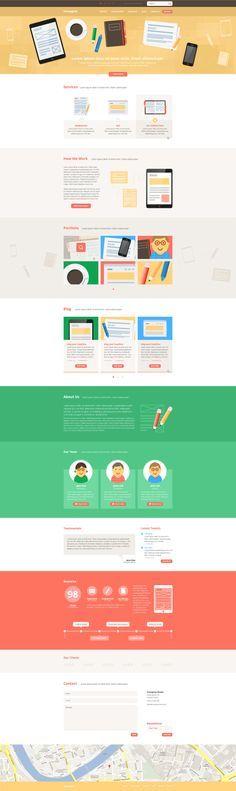 one page design - Google zoeken