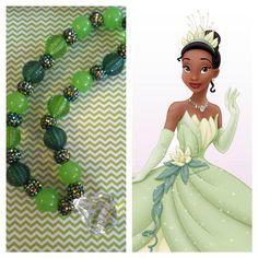 Princess Tiana chunky beaded necklace by TaylorTotsTrinkets