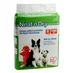 Iris Neat 'n Dry Floor Protection and Training Pet Pads, Regular, 100 Count by Iris, http://www.amazon.com/dp/B00176B85M/ref=cm_sw_r_pi_dp_k1Mnqb0Q3CE6A