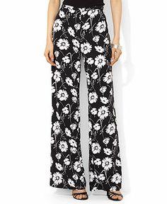 Lauren Ralph Lauren Floral-Print Wide-Leg Pants - Pants & Capris - Women - Macy's